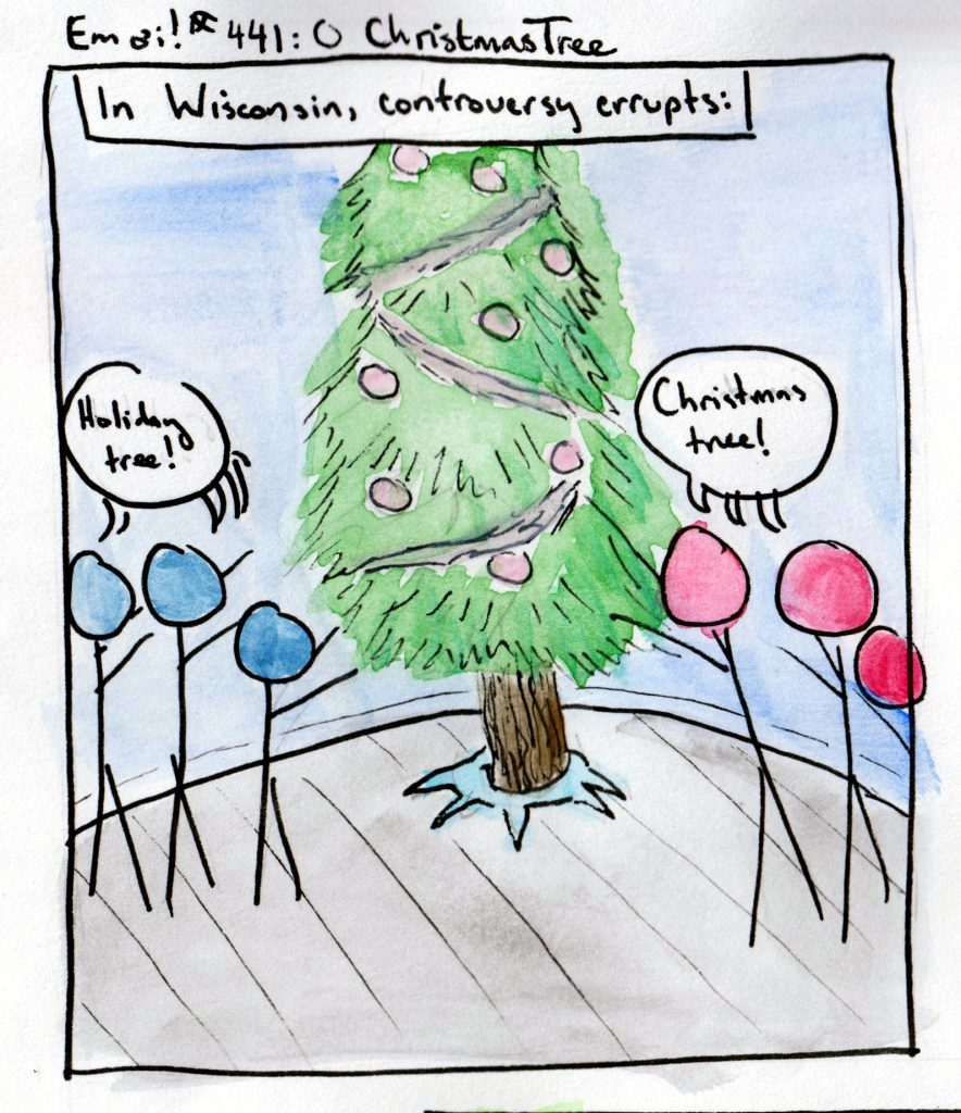 In Wisconsin, controversy erupts: is it a Christmas tree or a holiday tree?